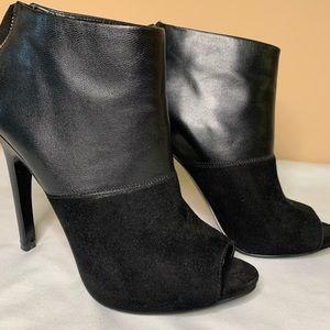 Nine West Leather/Suede Open Toe Booties
